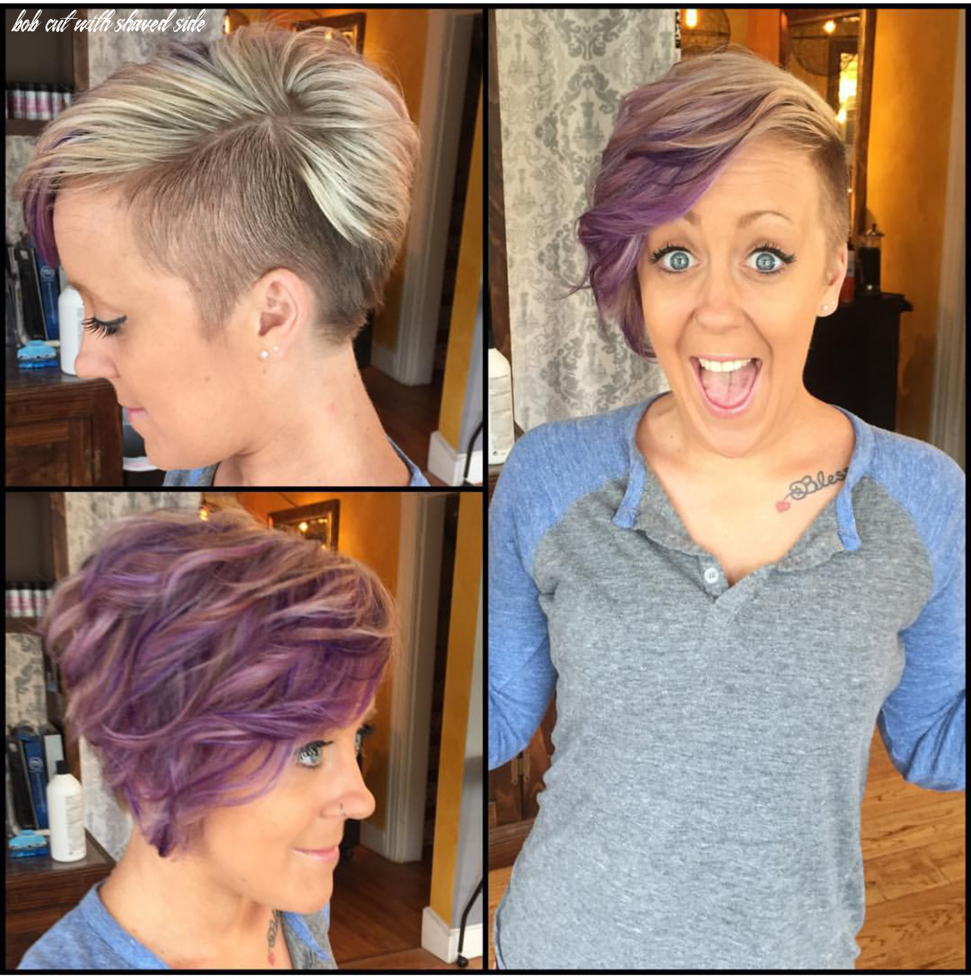 10 Bob Cut With Shaved Side - Undercut Hairstyle