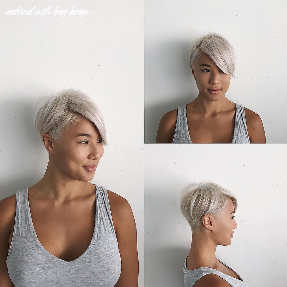 Short textured undercut with long side swept bangs and pla…   flickr undercut with long bangs