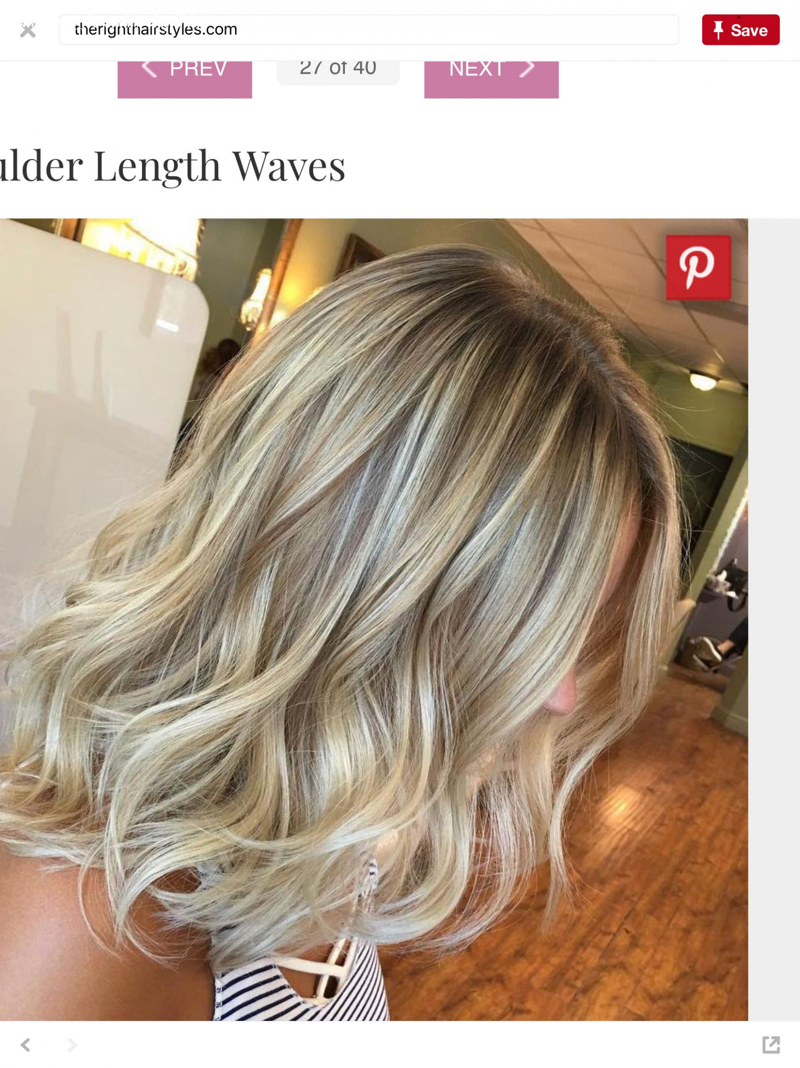 Shoulder length blonde beach waves (with images) | beach wave hair
