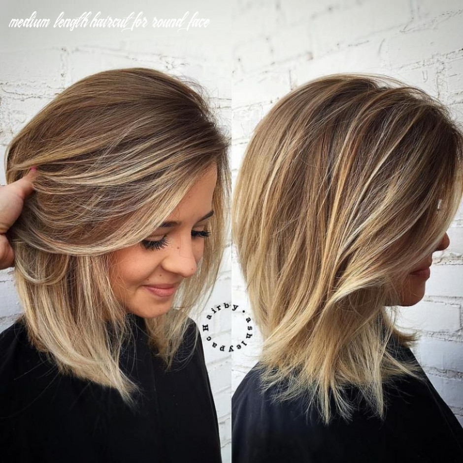 Shoulder length haircuts appealing for thin surprising round face