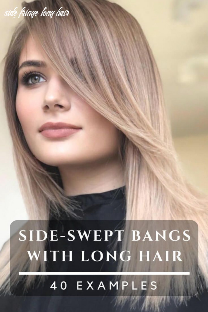 Side bangs with long hair – 8 examples for a new haircut (with