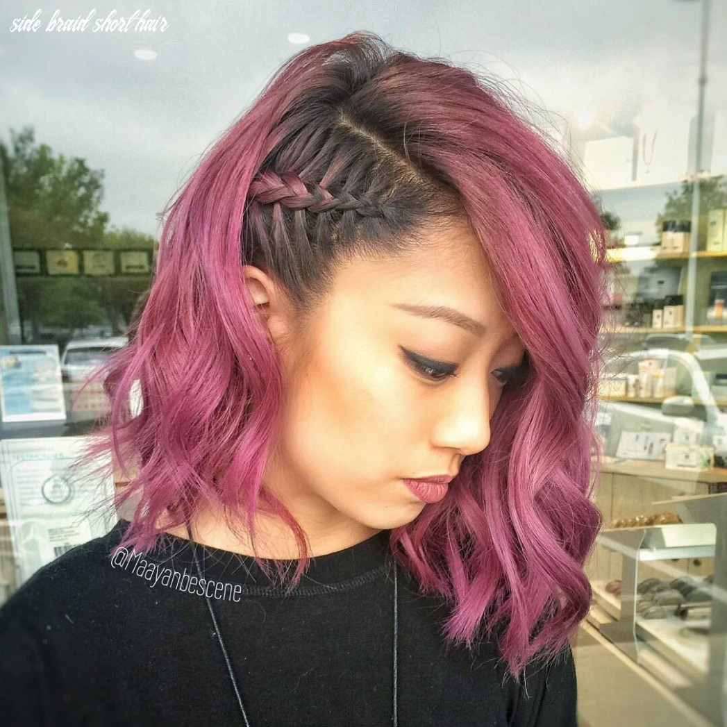 Side braid styles for super short hair with loose waves (mit