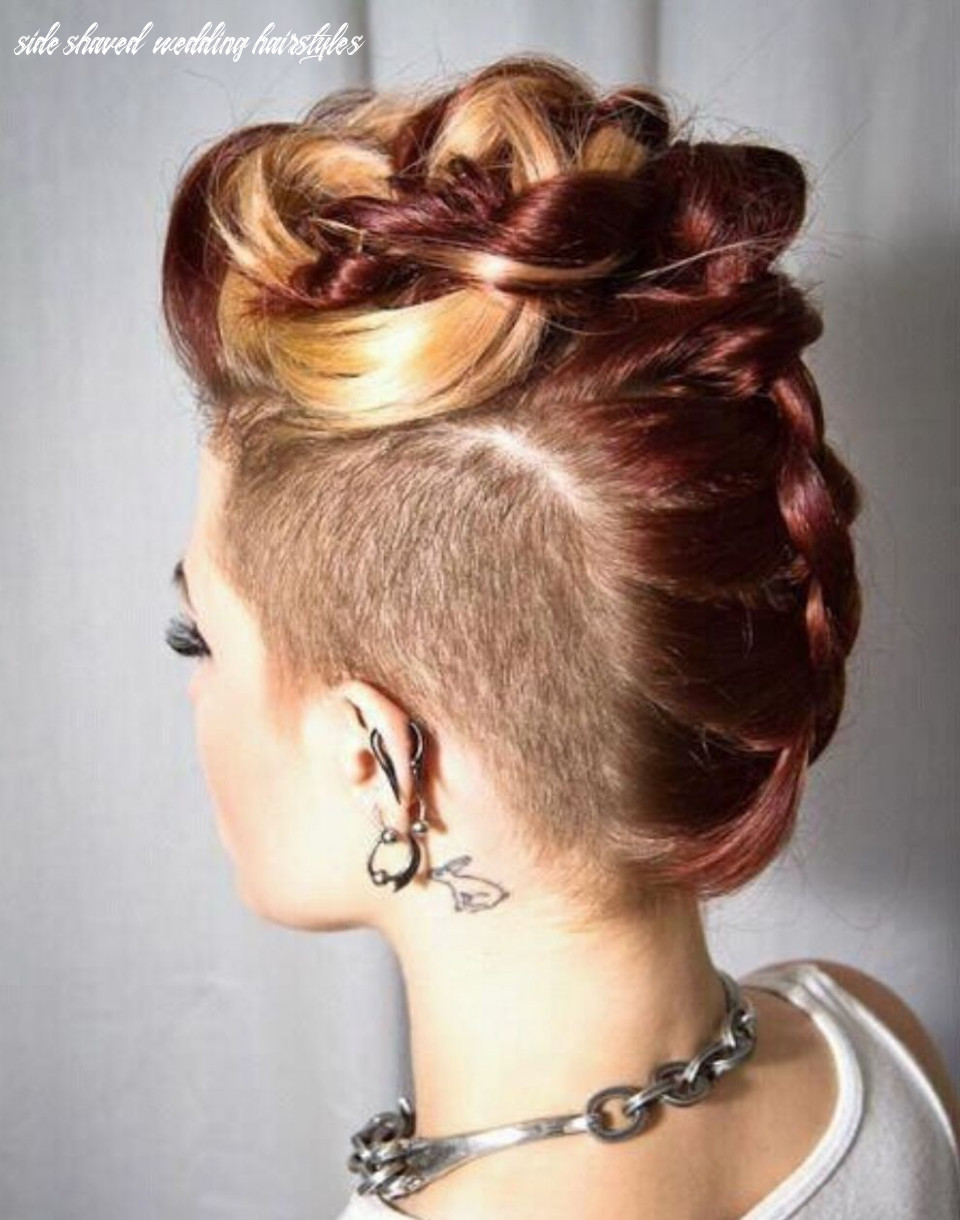 Side shaved wedding hairstyles platinum pinkelsey coia on