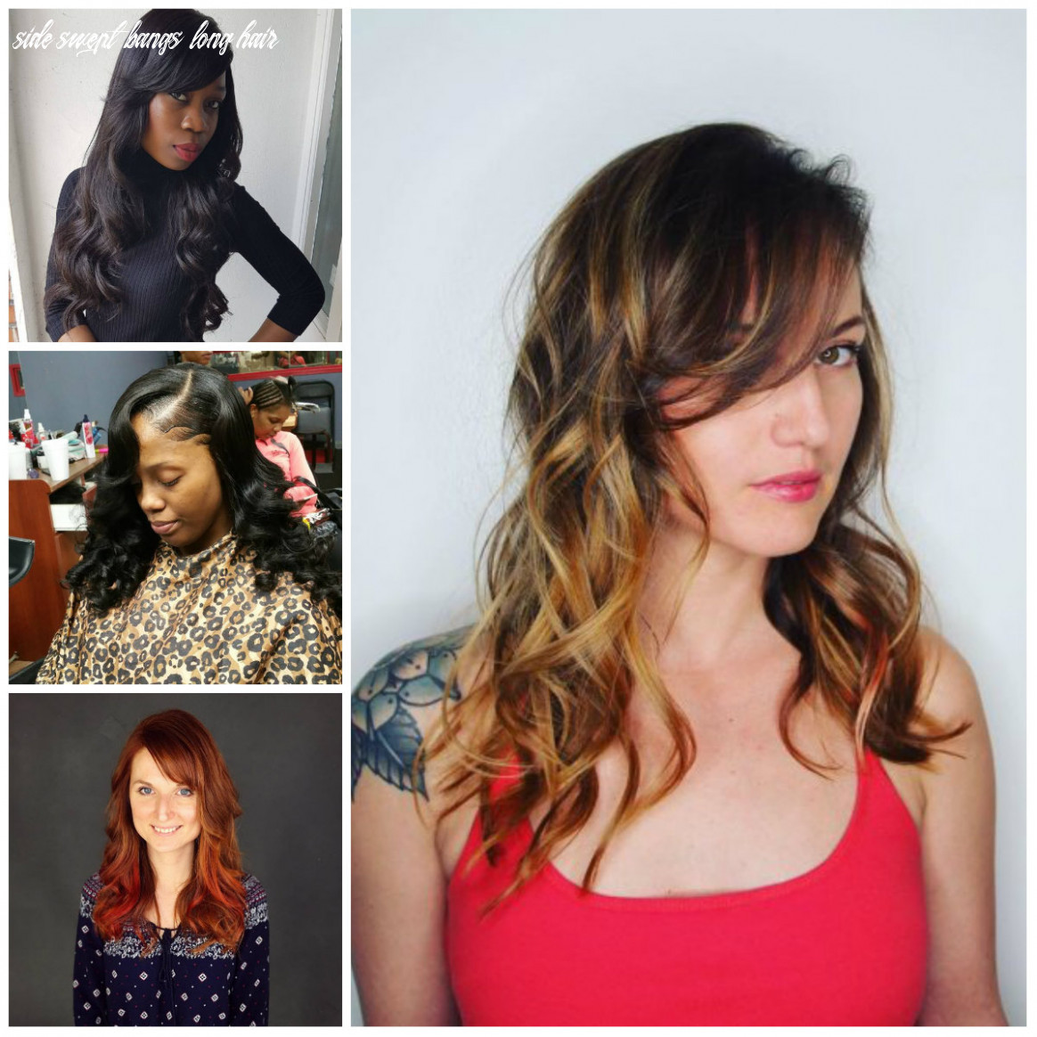 Side Swept Bangs Hairstyles for Long Hair for 10 | 10 Haircuts ...