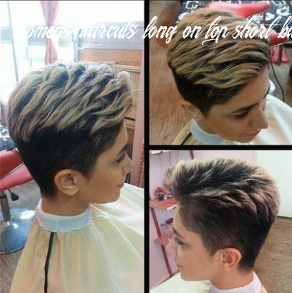 Simple clean short haircut with long layers on top | short hair