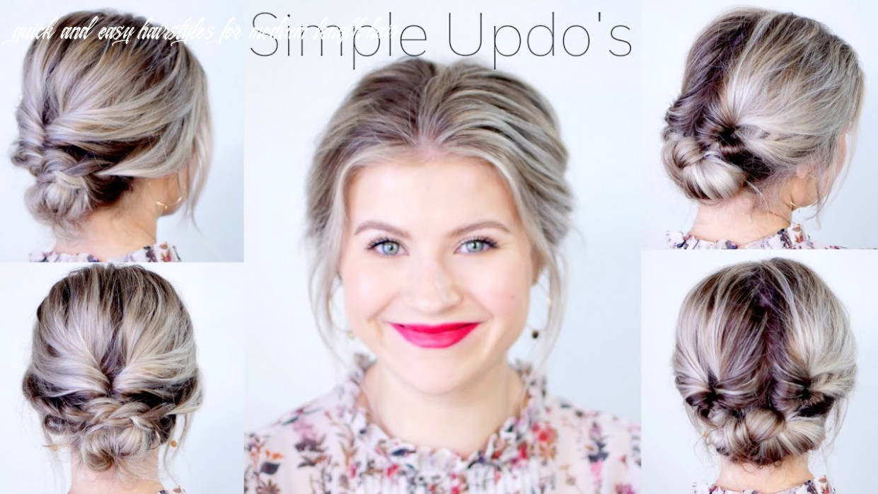 Simple Elegant Updo Hairstyles For Medium Length Hair | Milabu