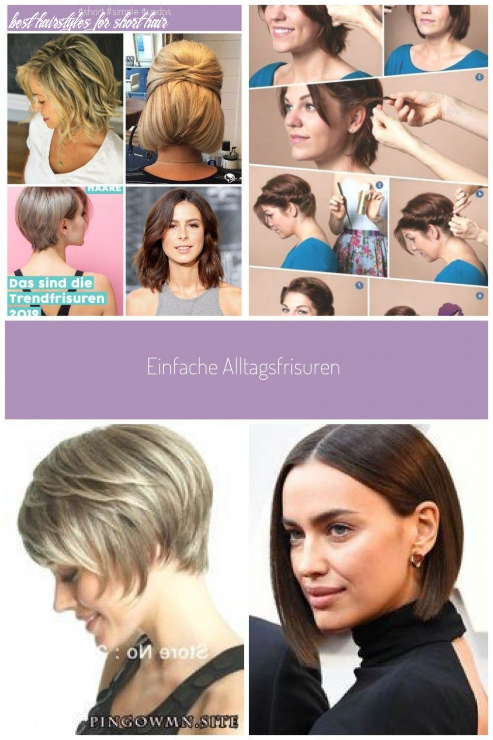 Simple everyday hairstyles for short hair, #hairstyles #hairstyle