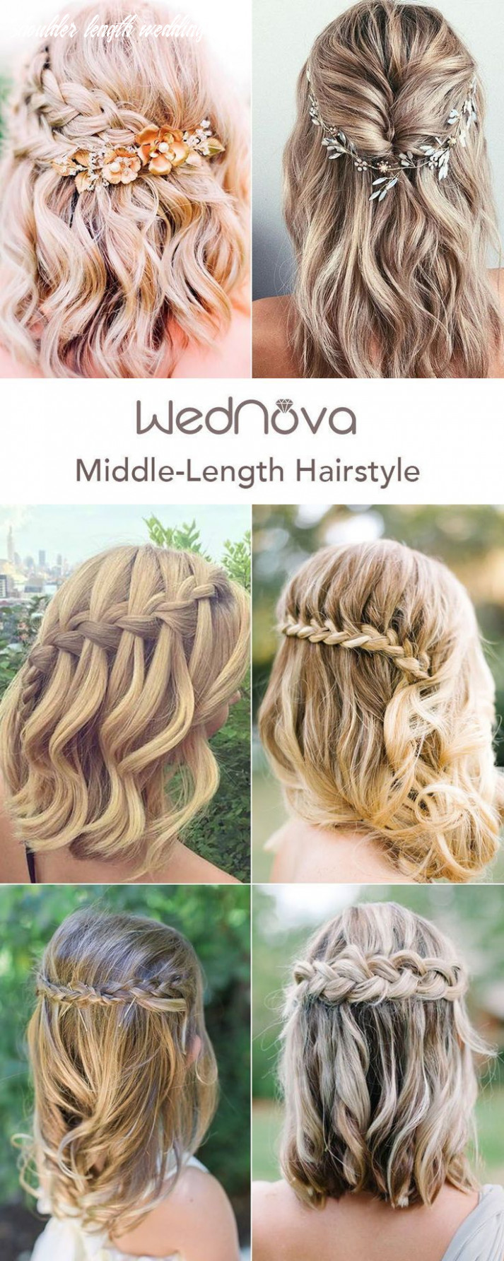 Simple wedding hairstyles for shoulder length hair in 10