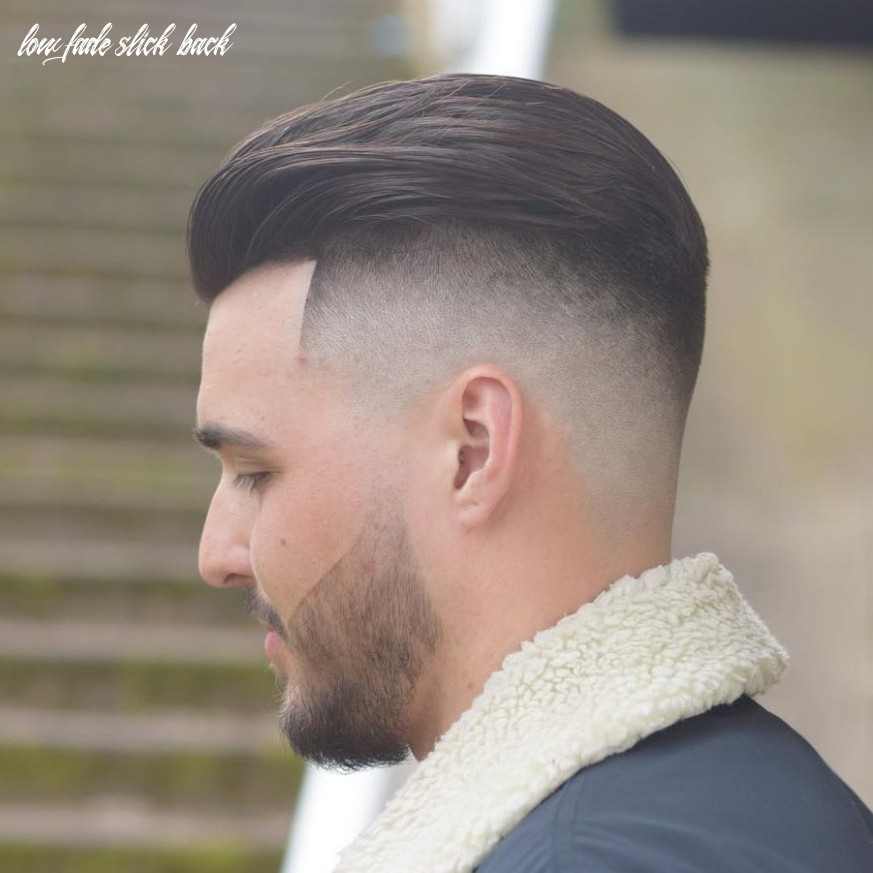 Slick back hair fade hairstyle boy 12 low fade slick back