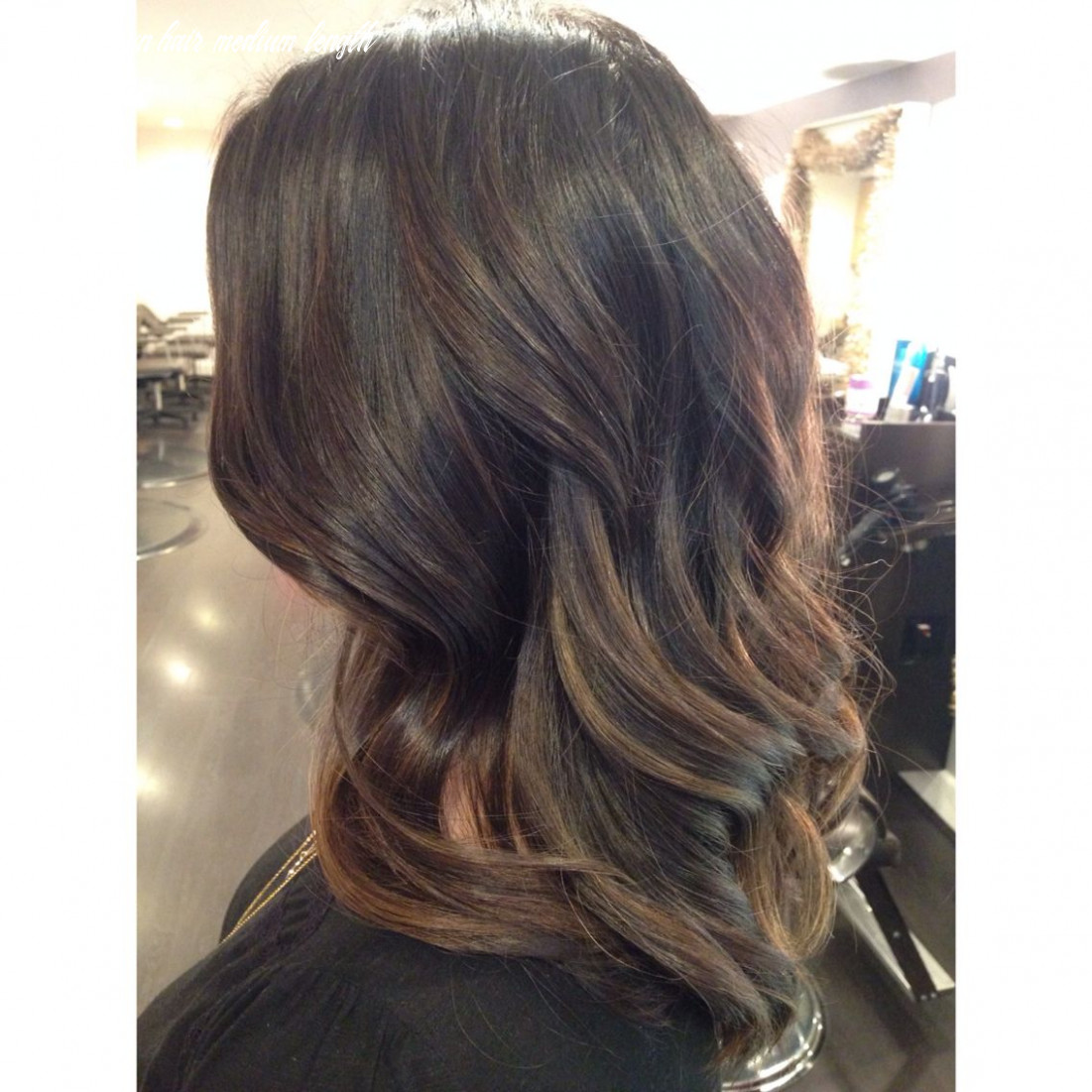 Soft balayage, dark hair, dark brown hair, shoulder length hair