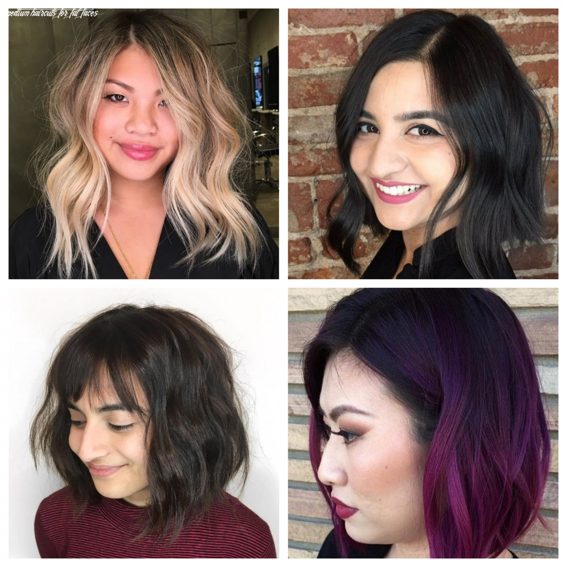 Stunning medium hairstyles for round faces | 12 haircuts