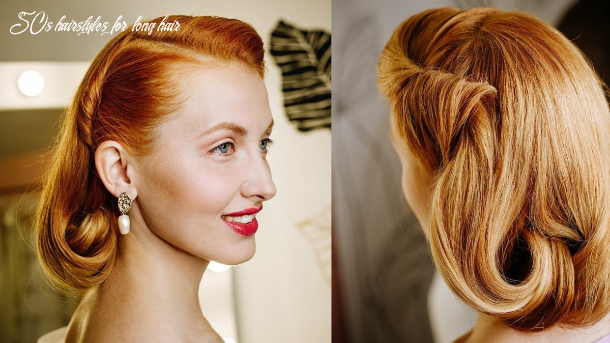 Stunning pin up hairstyle in the style of the 9s 9s | how to make a bob for long hair 50s hairstyles for long hair