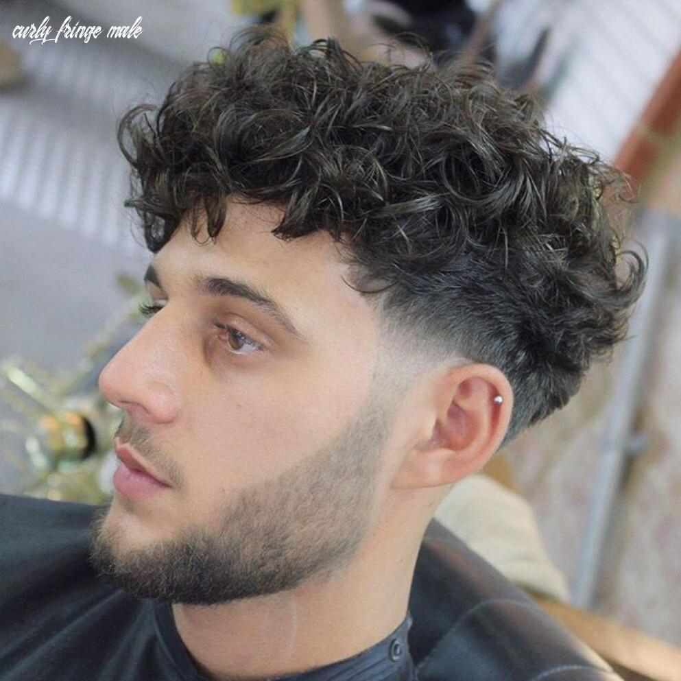 Stylish fringe haircuts for curly hair   curly hair men, mens