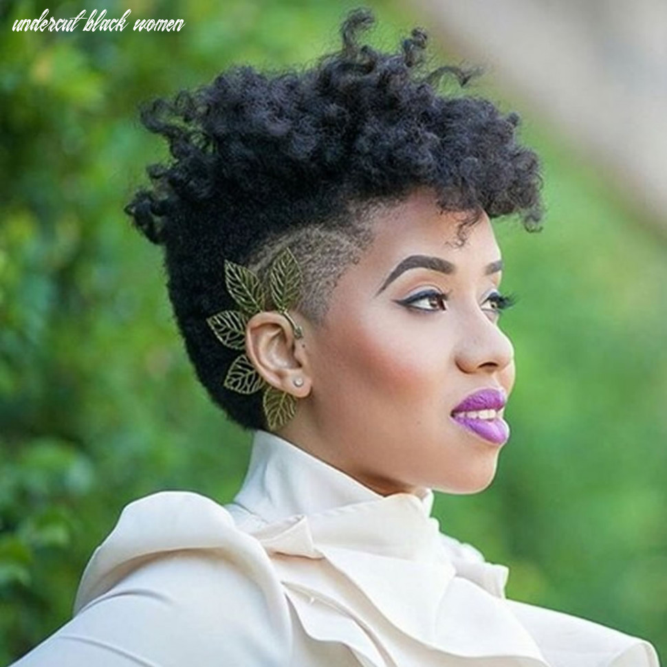 Tender Black Women Undercut Styles Black Hair Undercut