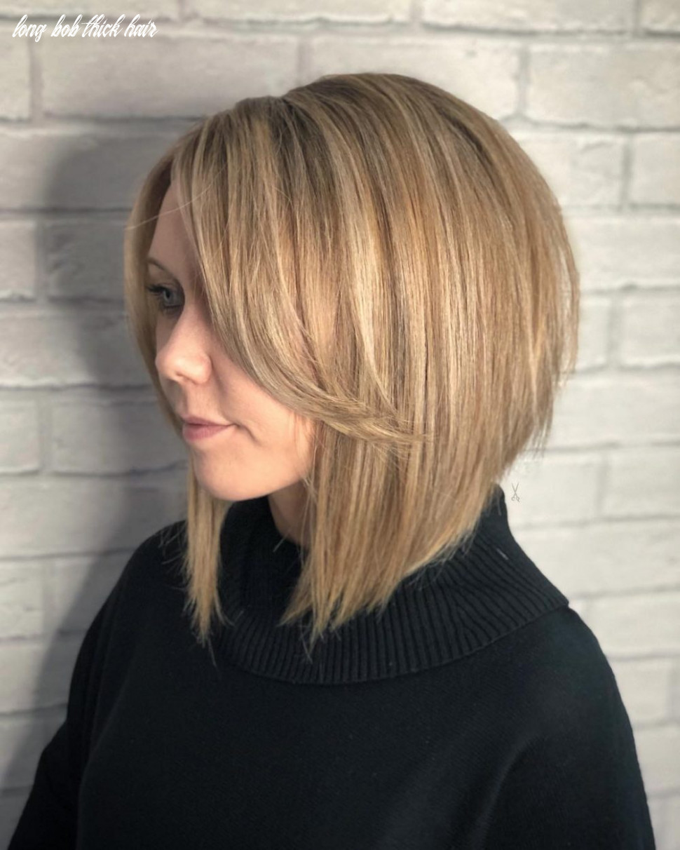 The 10 best short hairstyles for thick hair to be easier to manage long bob thick hair