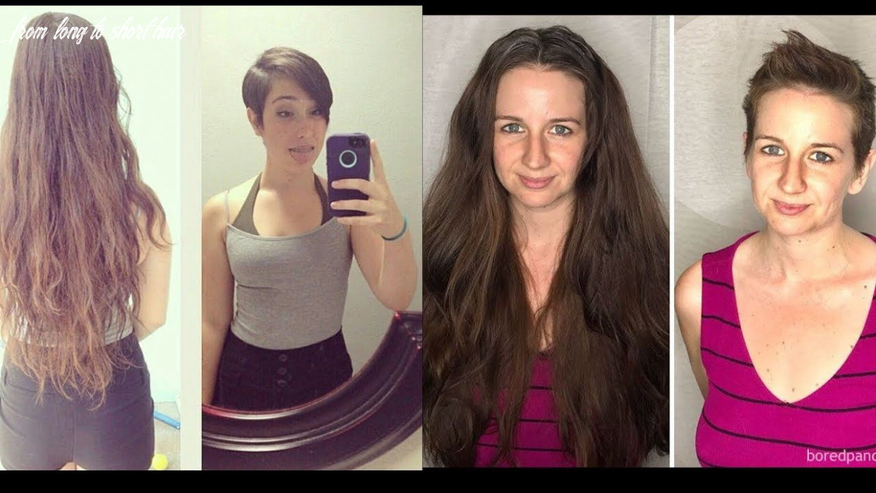 The Best Hair Transformation From Long to Short Hair   Long to ...