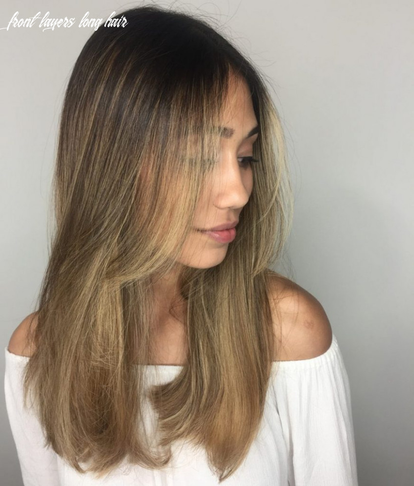 The best long haircuts   glam & gowns blog front layers long hair