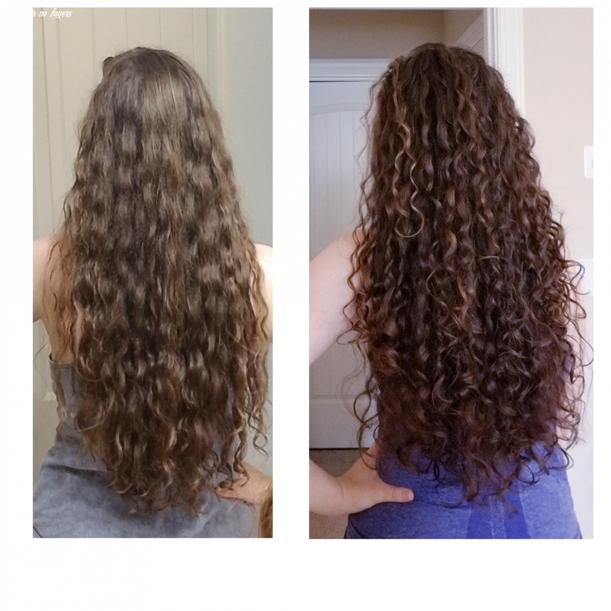 The difference layers make (no routine or color change, just