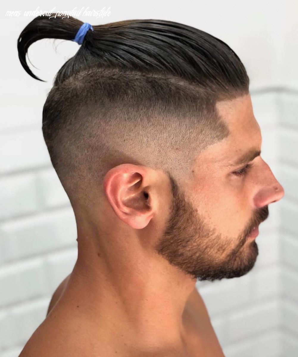 The top knot hairstyle visual guide for men (11 different styles) mens undercut ponytail hairstyle