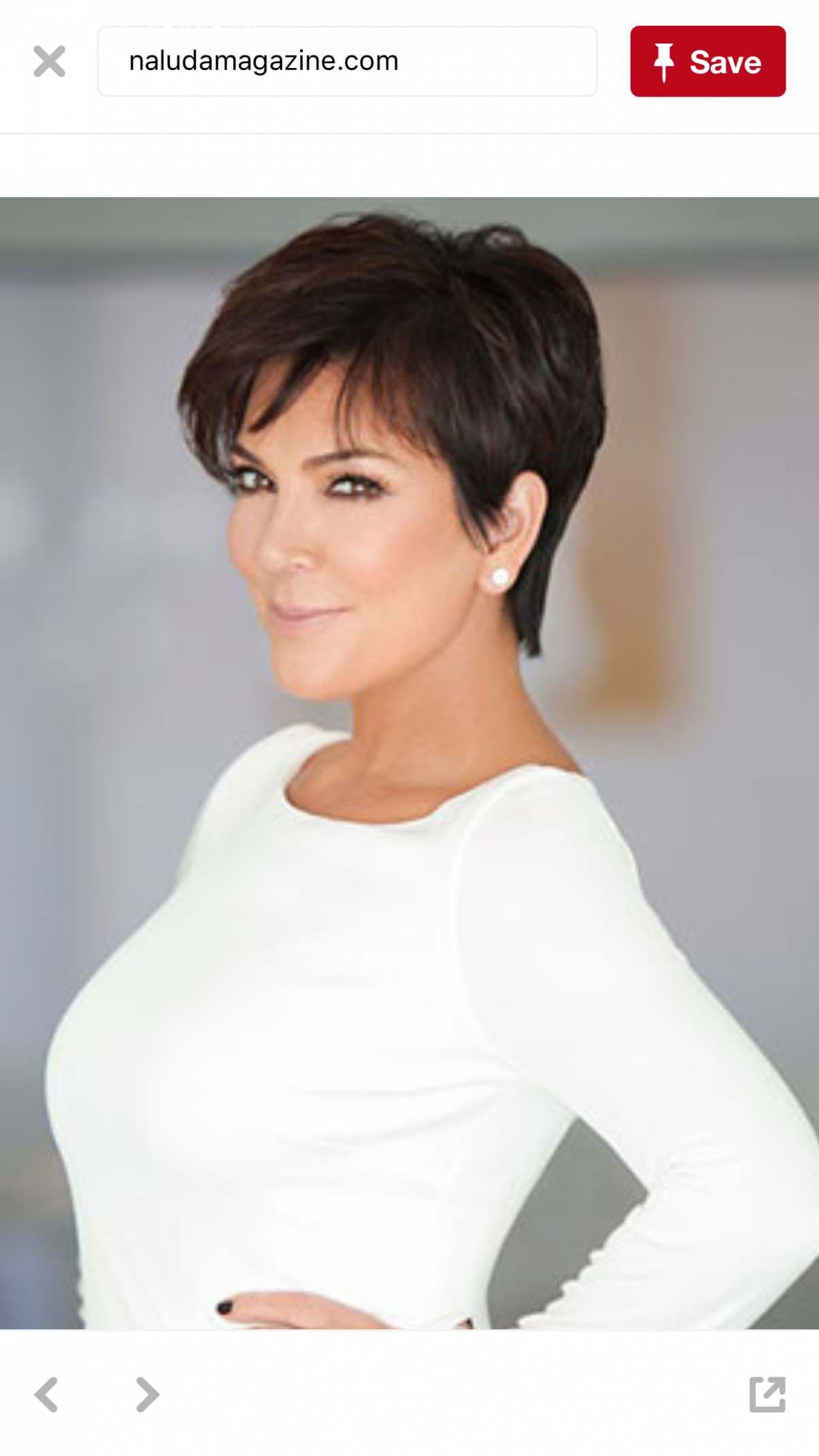 The way her haircut is styled | jenner hair, kris jenner haircut