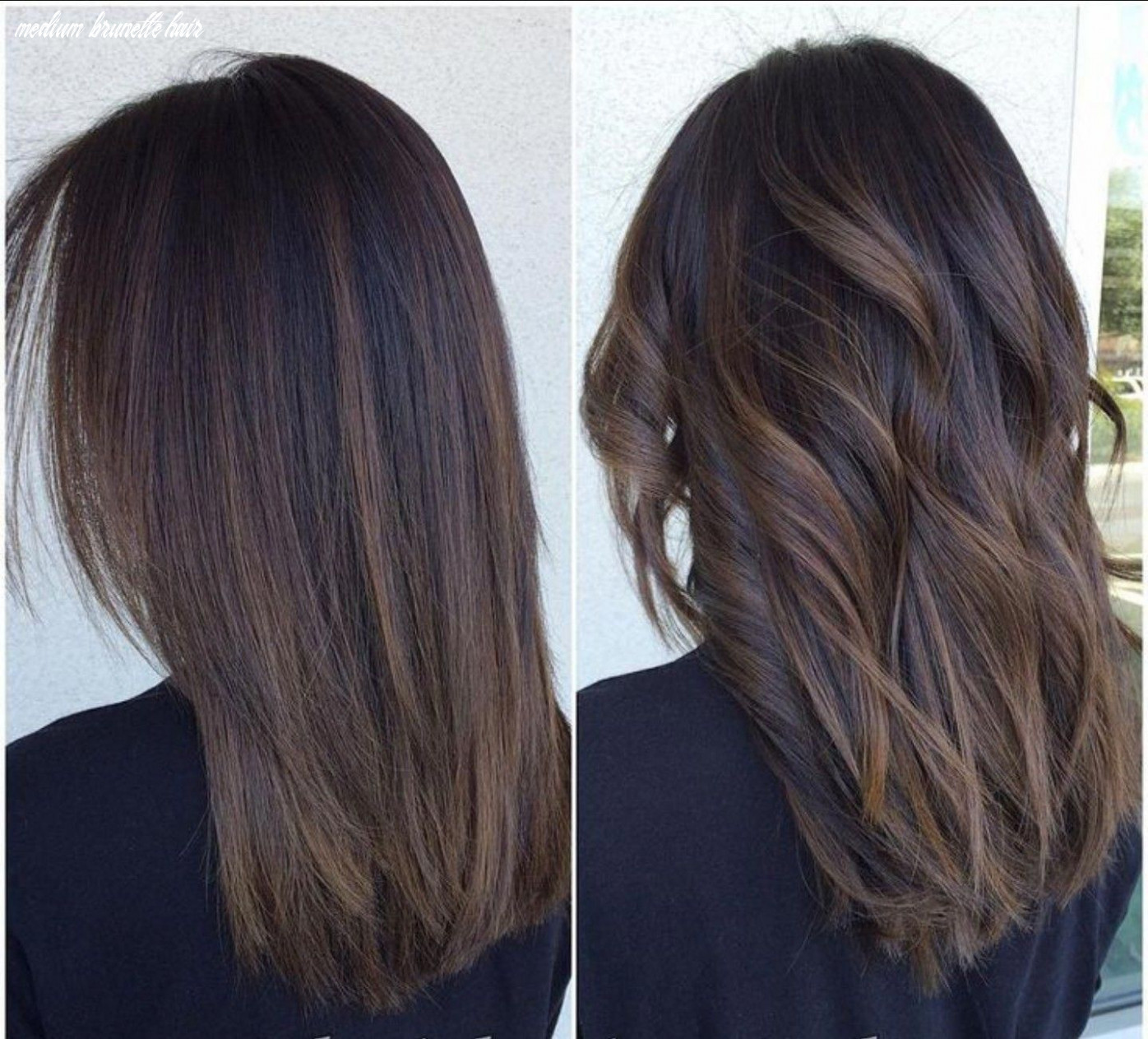 These medium straight balayage hair are trendy