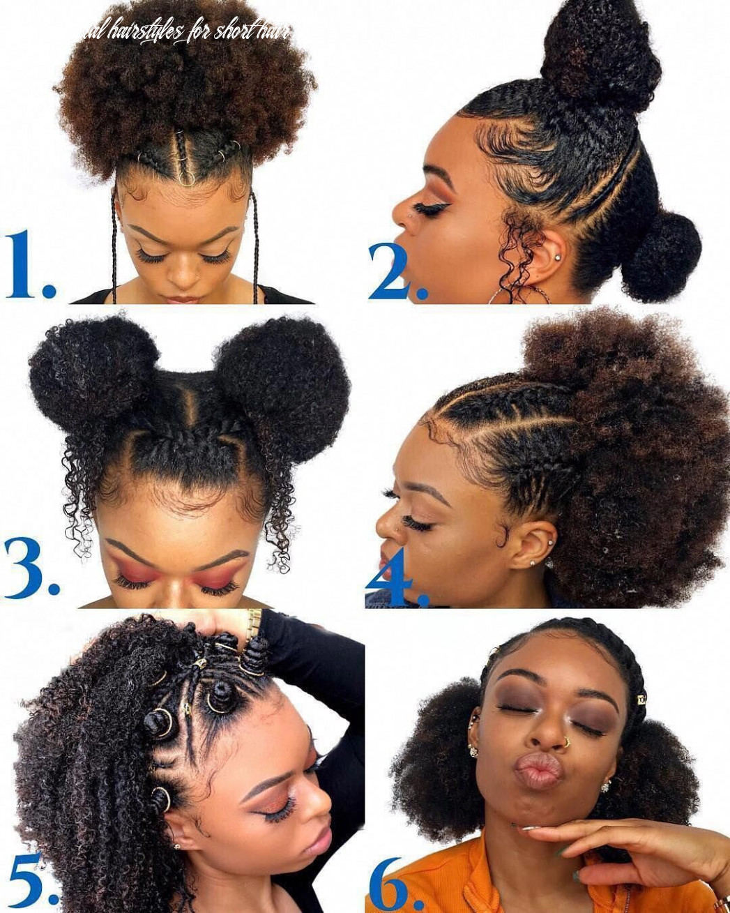 This natural hairstyles for short hair truly are trendy