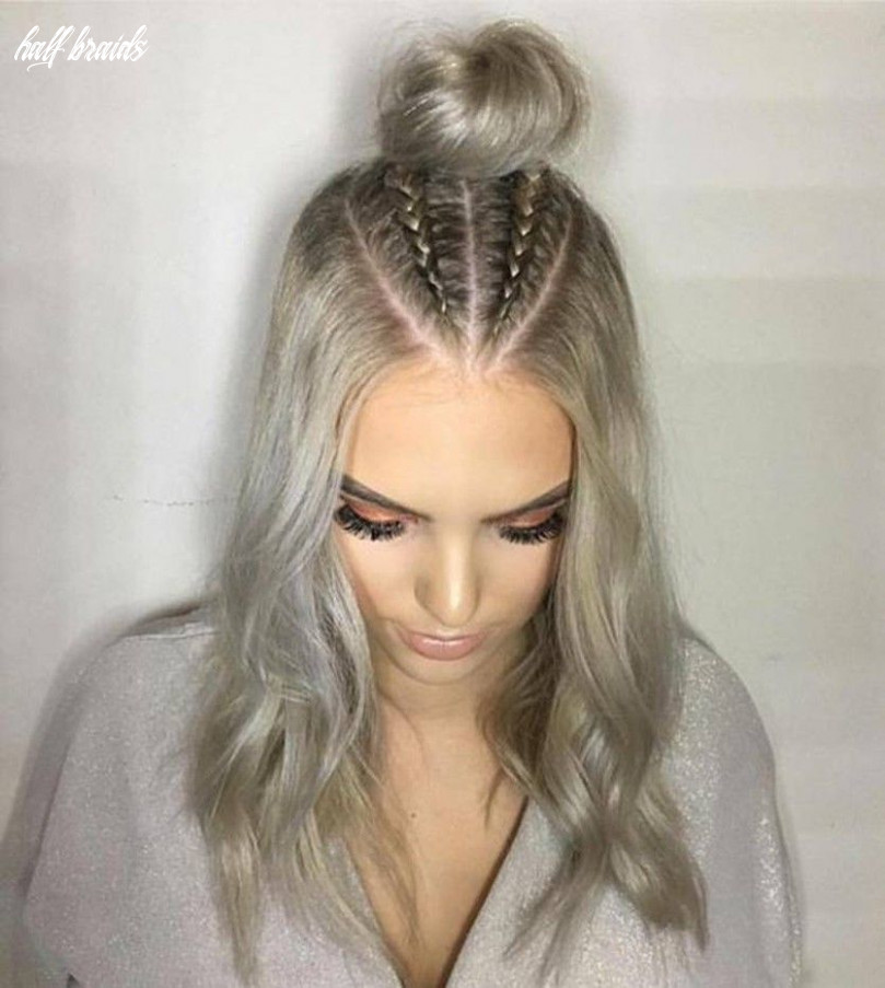 Trend watch – mohawk braid into top knot half up hairstyles