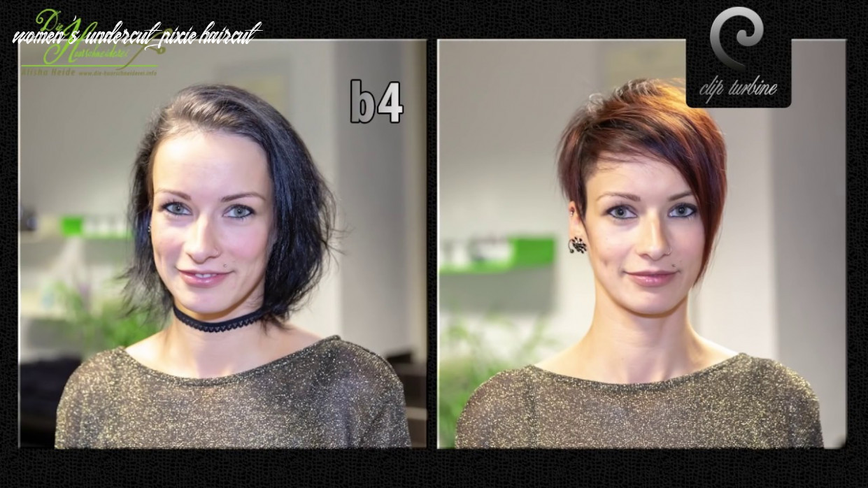 trendy short pixie haircut women, ombre hair, undercut hairstyle, new  makevover by Alisha Heide