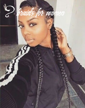 Two braids going back❤ | two braids style, two braid hairstyles