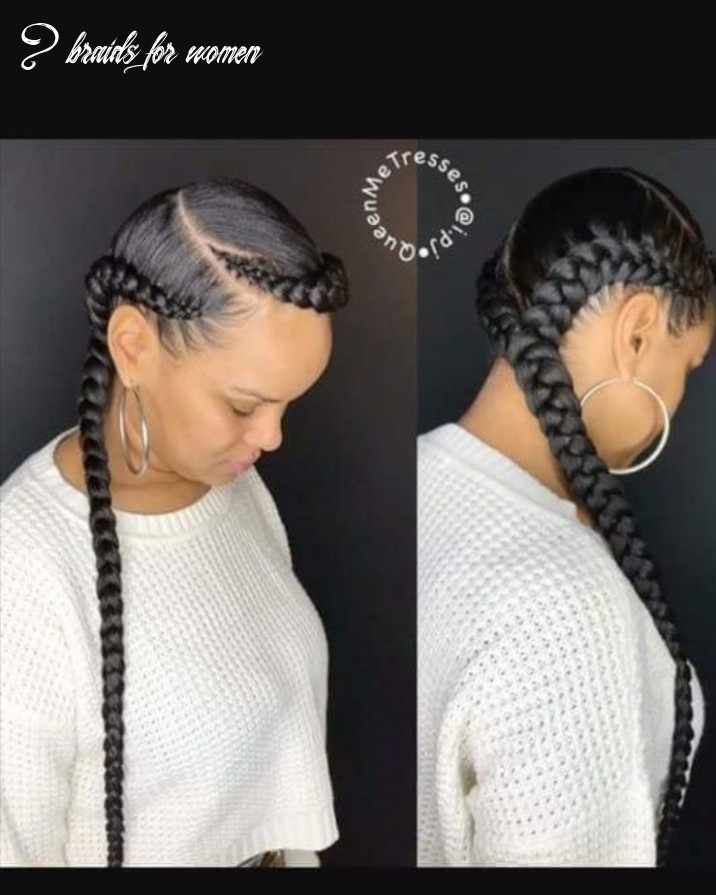 Two feed in braids | two braid hairstyles, feed in braids
