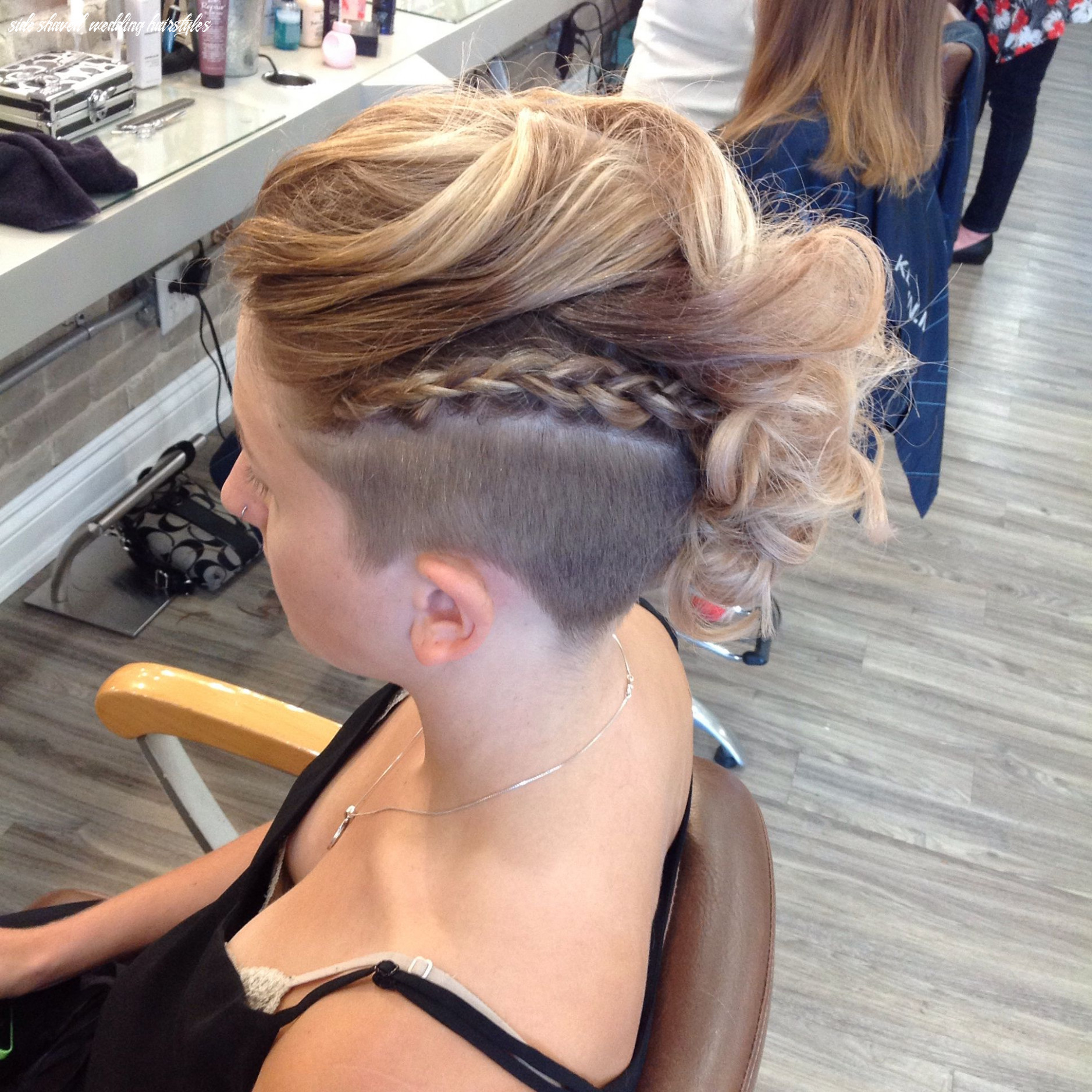 Undercut and updo by our stylist alison | half shaved hair, short