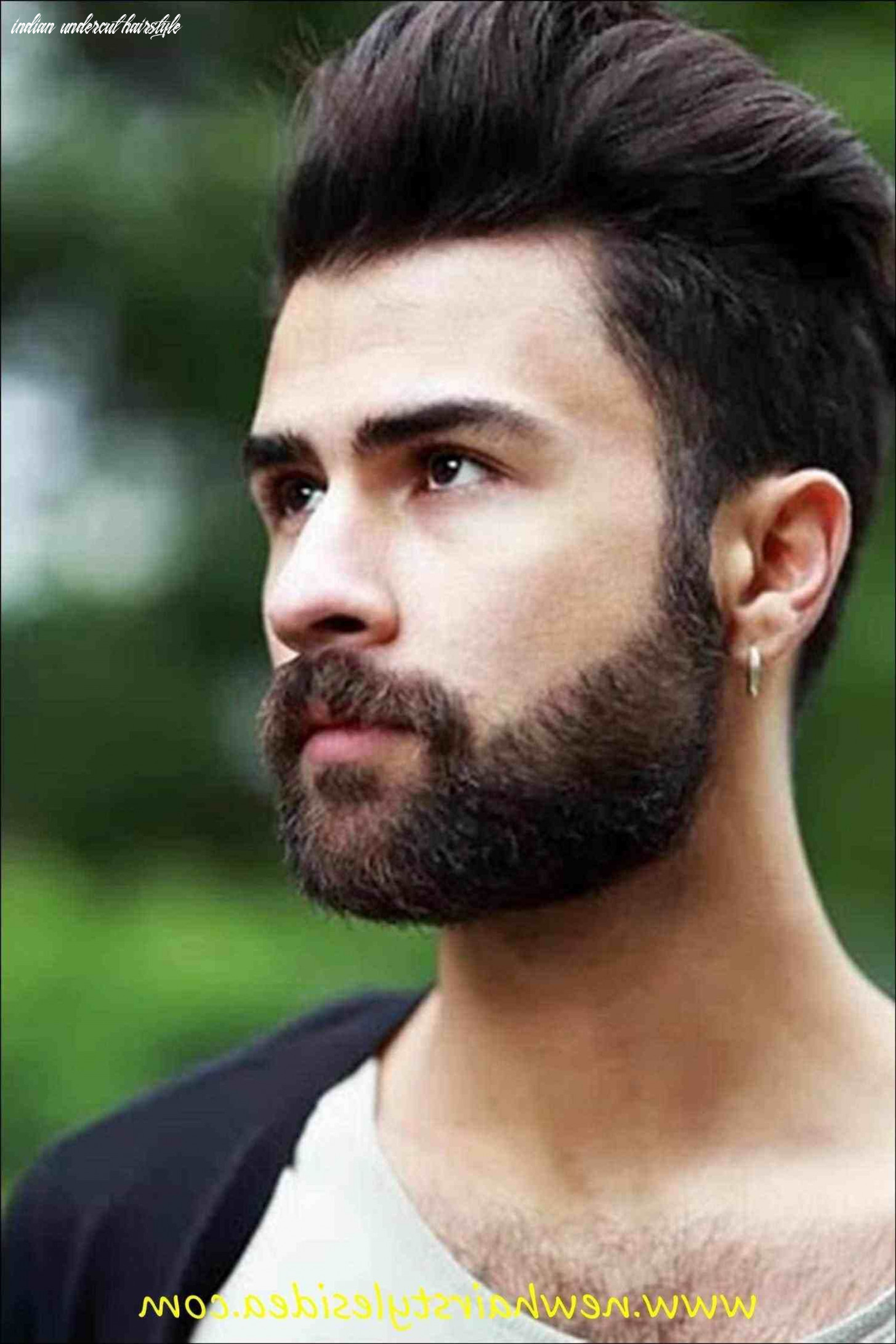 Undercut hairstyle with beard indian | beard hairstyle, mens