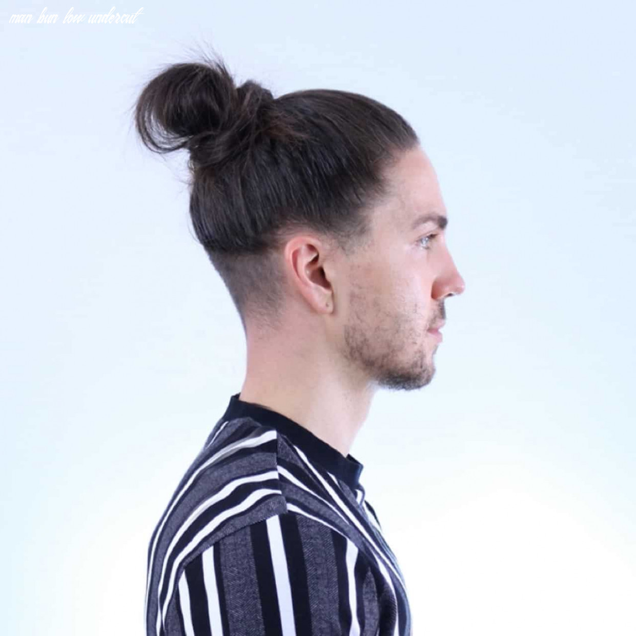Undercut Man Bun Hairstyle Variations - Men's Long Hairstyles