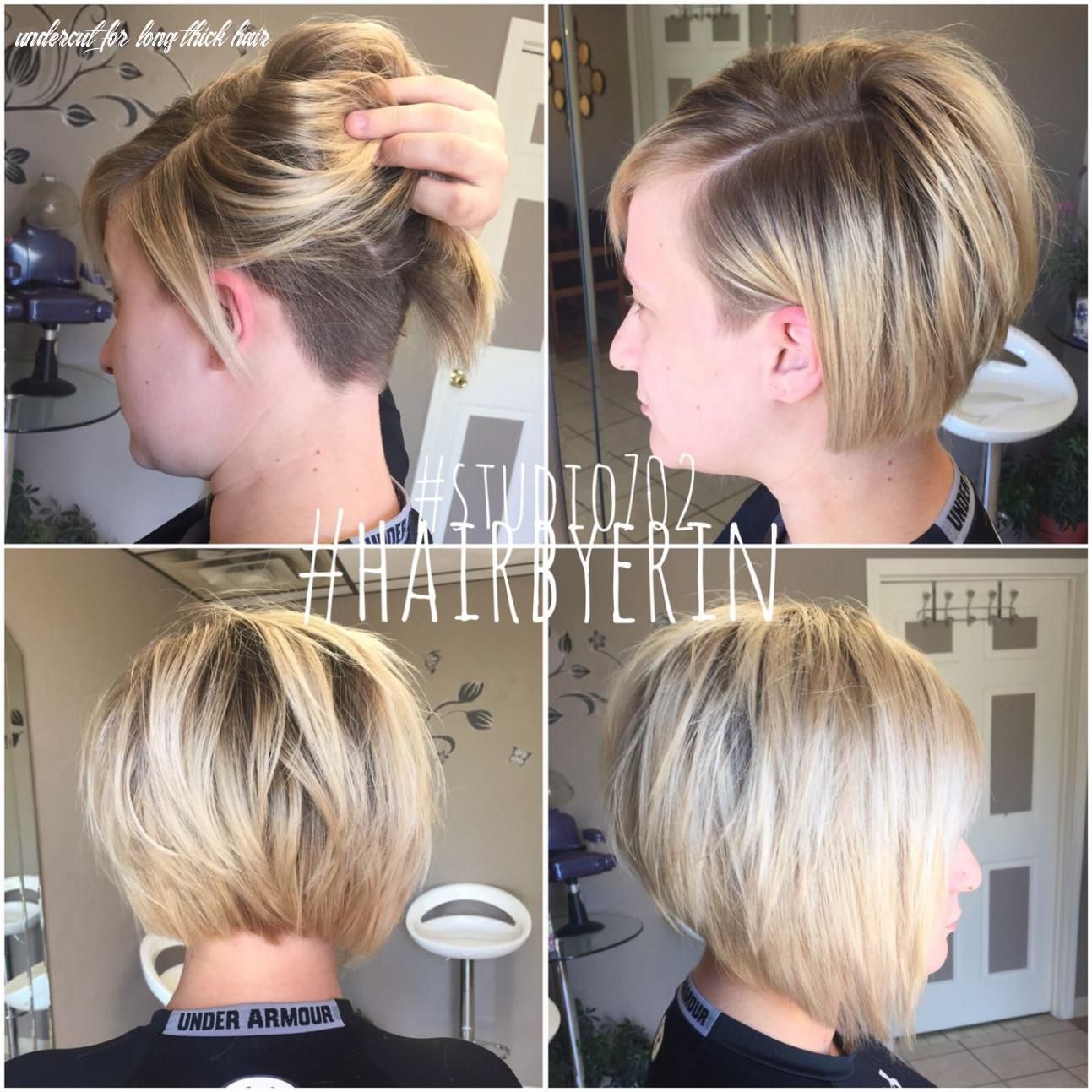 undercut #studio8 #hairbyerin | Thick hair styles, Bob hairstyles
