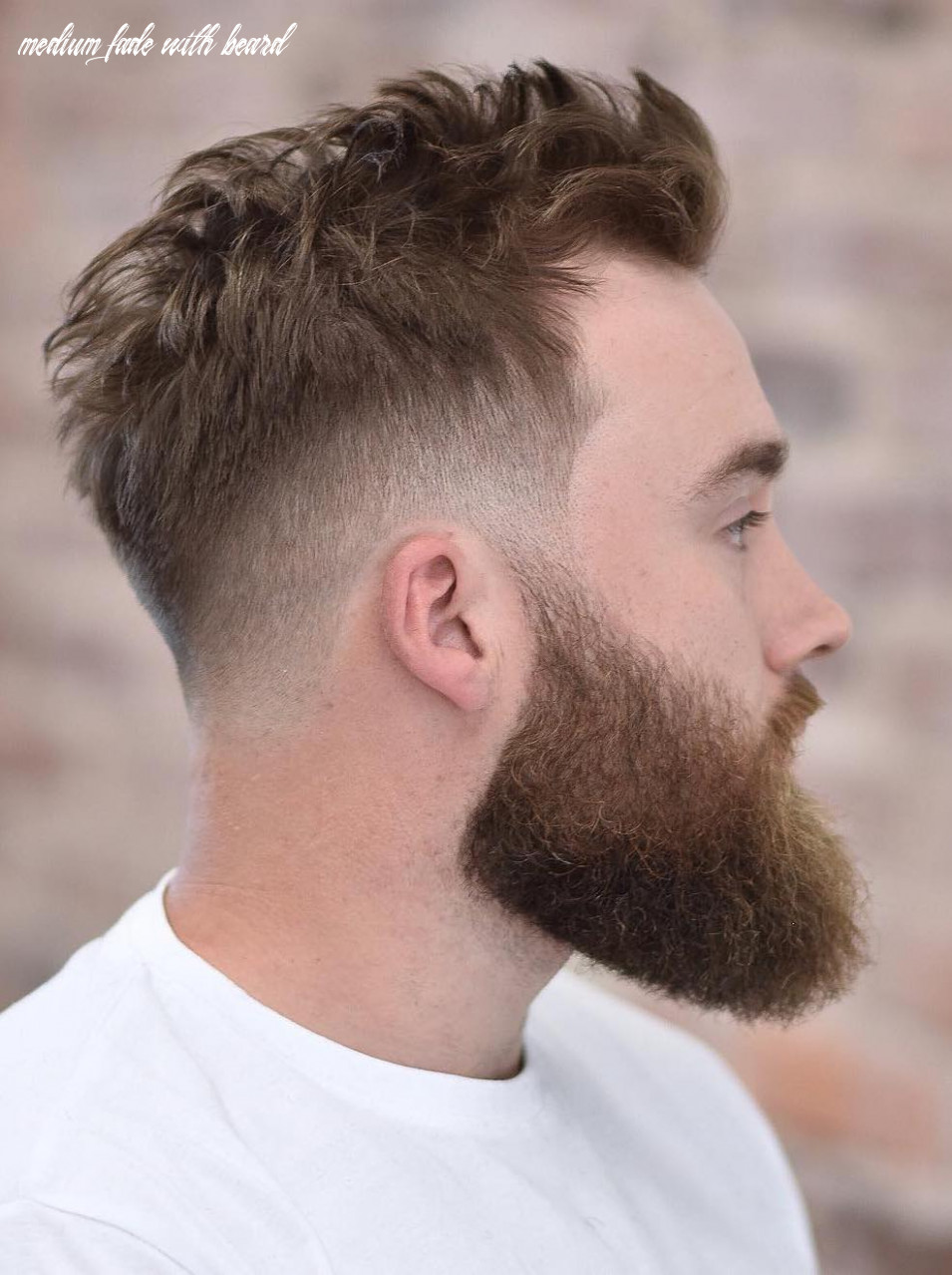 Unreal Mid Fade Haircut With Beard Man Bun Fade With Beard 8