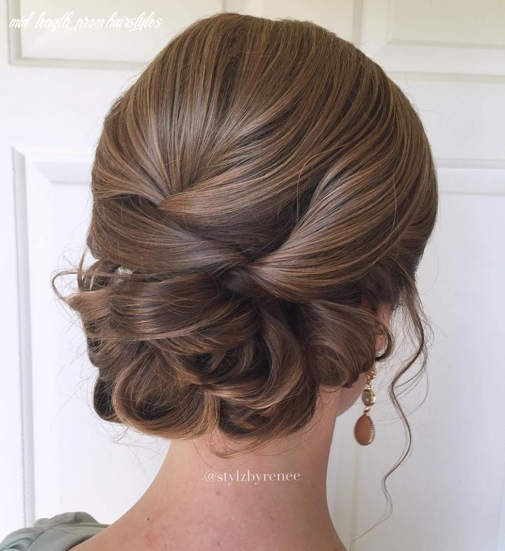 Updo prom hairstyles for shoulder length hair mid length prom hairstyles