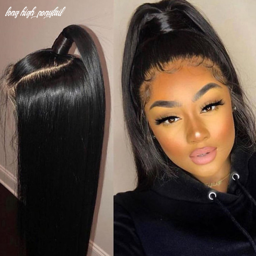 Us $12 12 12% off|high ponytail brazilian 12inch long lace front human hair wigs 12density silky straight 12x12 lace front wigs hd lace for