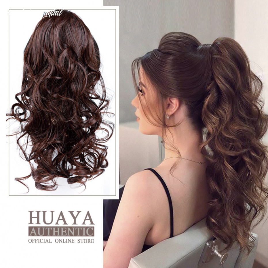 Us $12 12 412% off|heat resistant synthetic long wavy curly hair ponytail clip in drawstring pony tail hairpieces for women hair extensions|synthetic