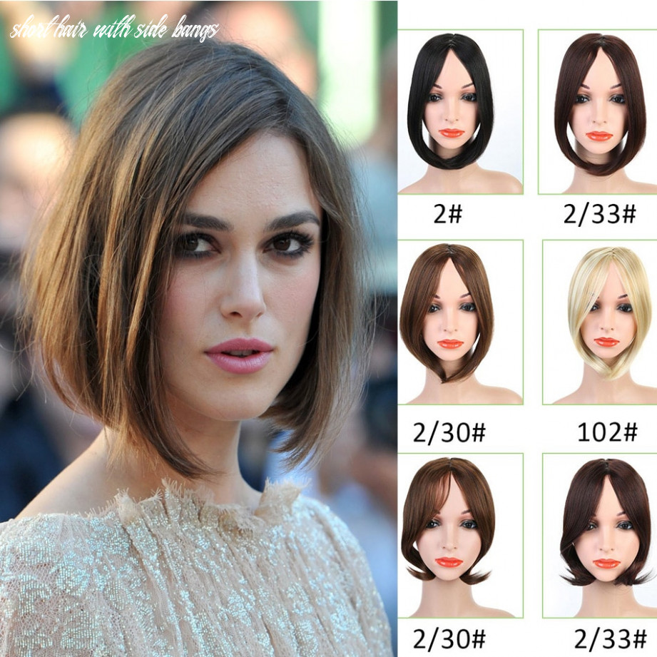 US $8.38 8% OFF|MUMUPI Short Inclined In Side Bangs Oblique Female Pretty  Girls On Clip In Front Hair Bang Fringe Hair Extension Piece ...