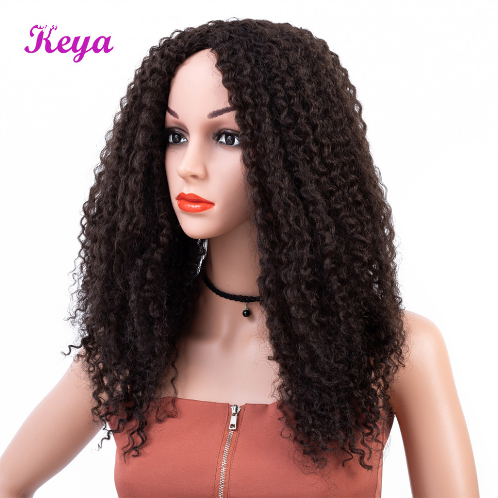 Us $9 9 9% off|keya 9 inch long afro kinky curly wigs medium brown african hair style heat resistant fiber synthetic wigs for black