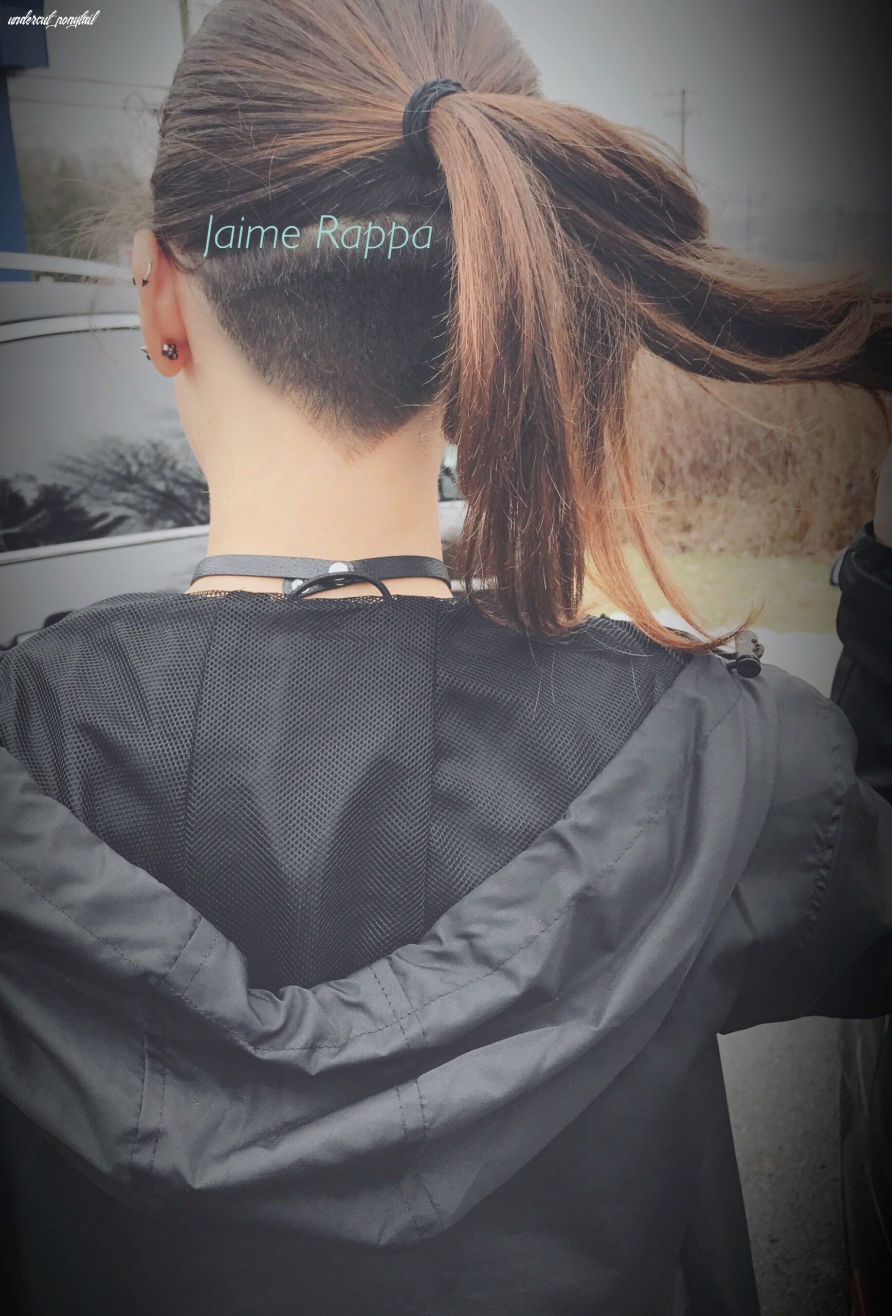 V shape undercut with ponytail (With images) | Undercut hairstyles ...