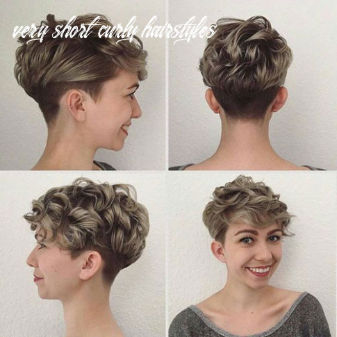 Very short curly hairstyles for smart ladies | short haircut