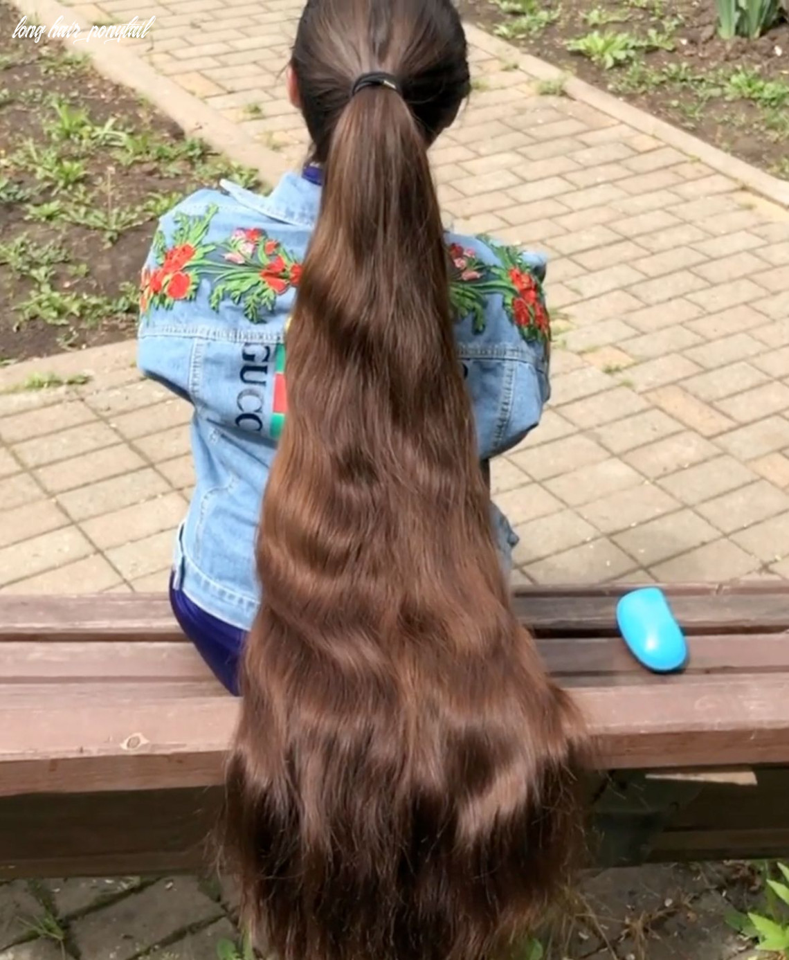 Video massive ponytail | really long hair, long hair pictures