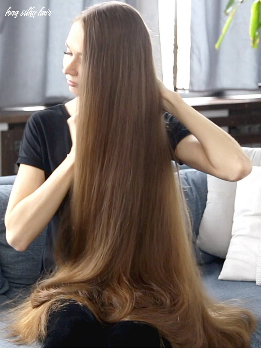 Video straight, silky and very long long silky hair