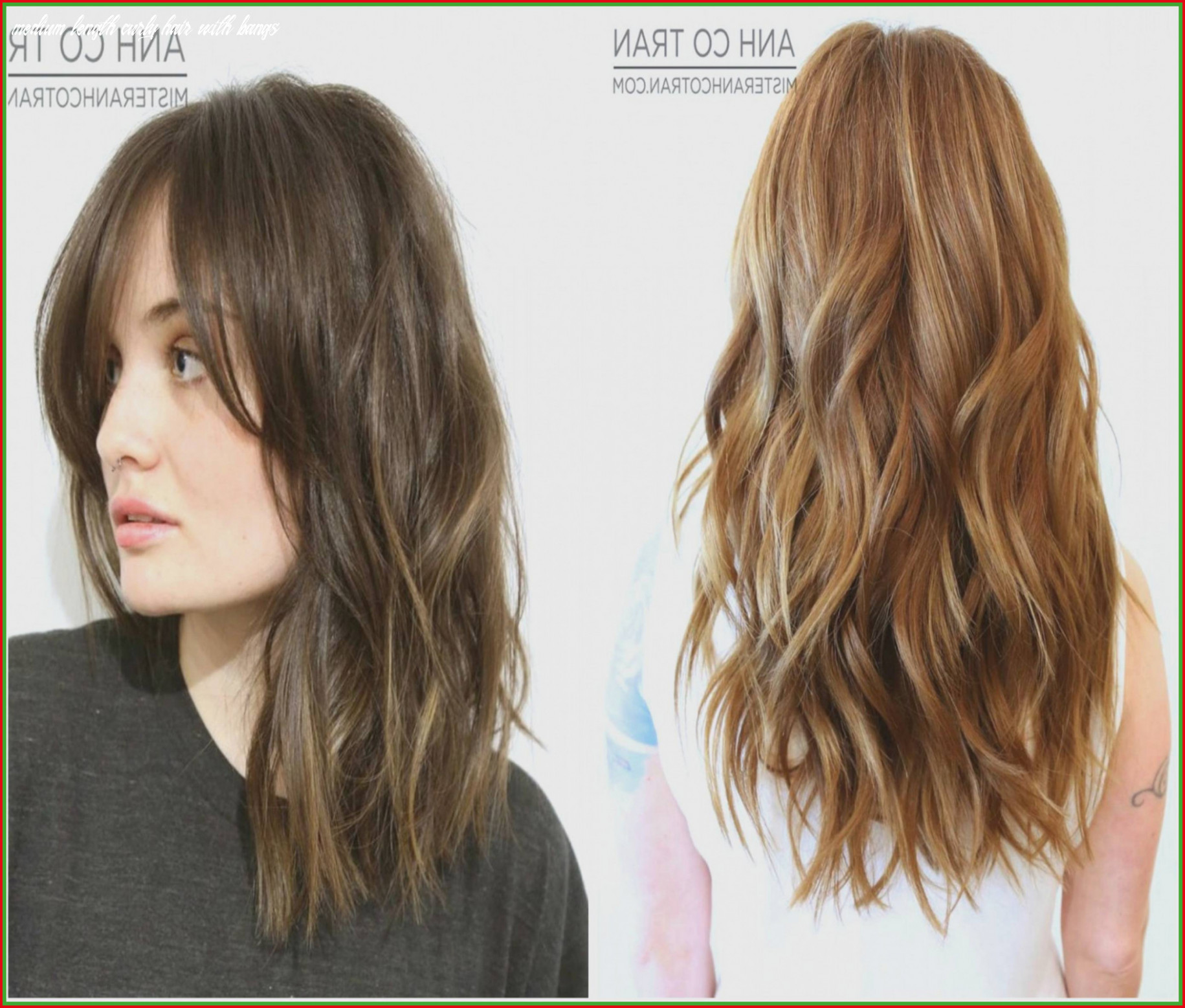 Wavy Hairstyles for Medium Length Hair with Bangs Awesome Medium ...