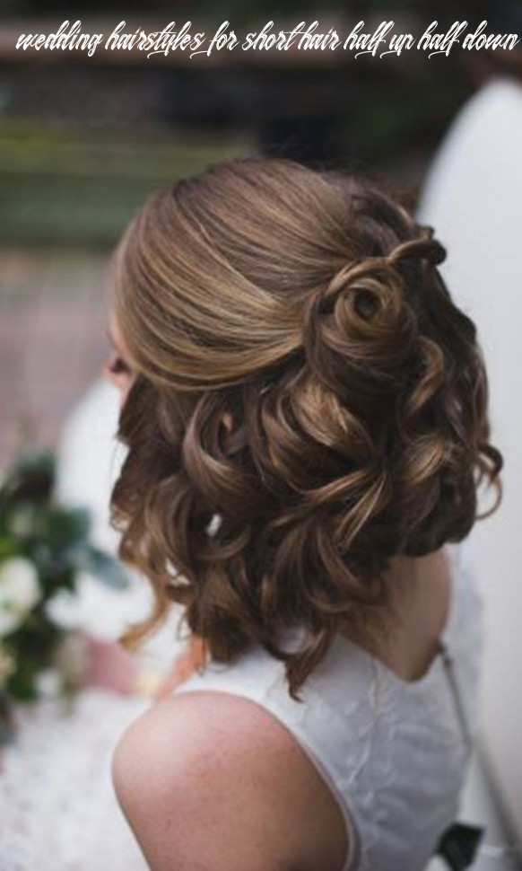 Wedding hairstyles for short hair half up half down | wedding