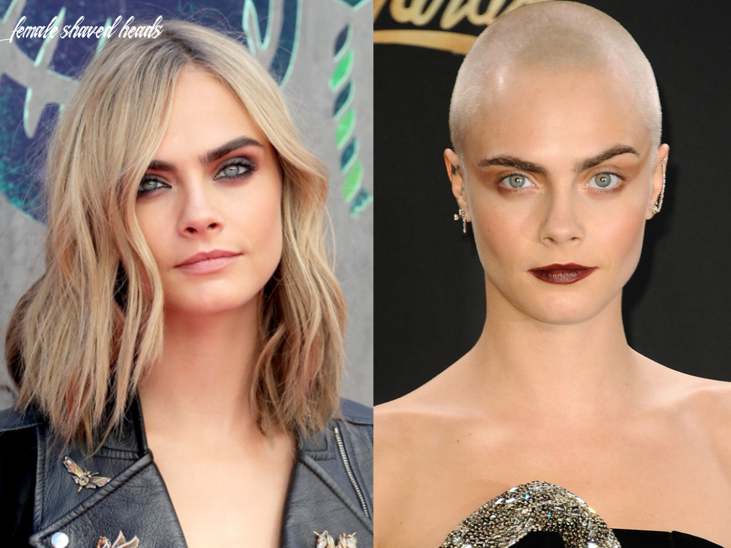 What celebrities look like with and without shaved heads insider female shaved heads