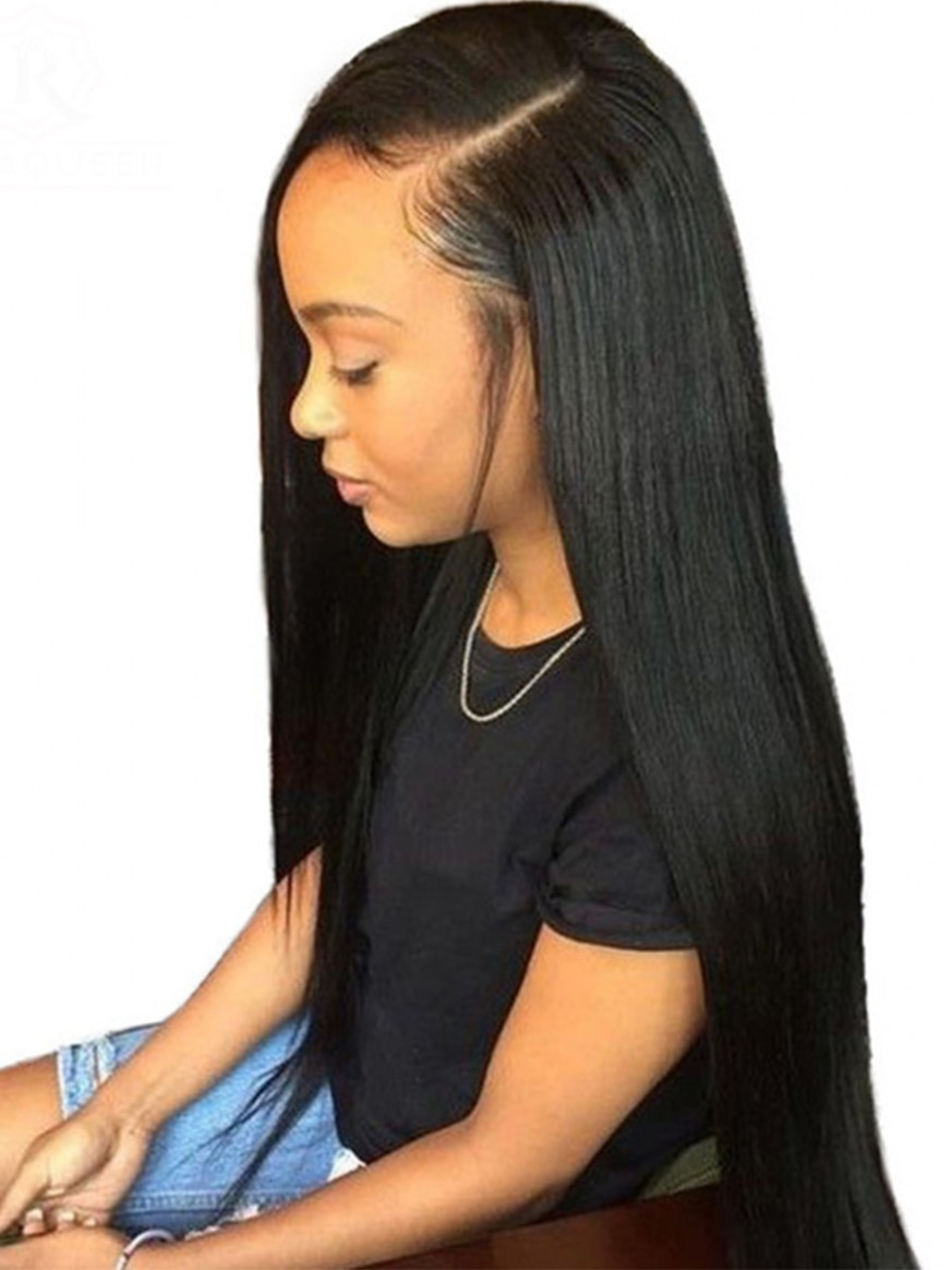 Women's Human Hair Extension Natural Long Straight Black Extension