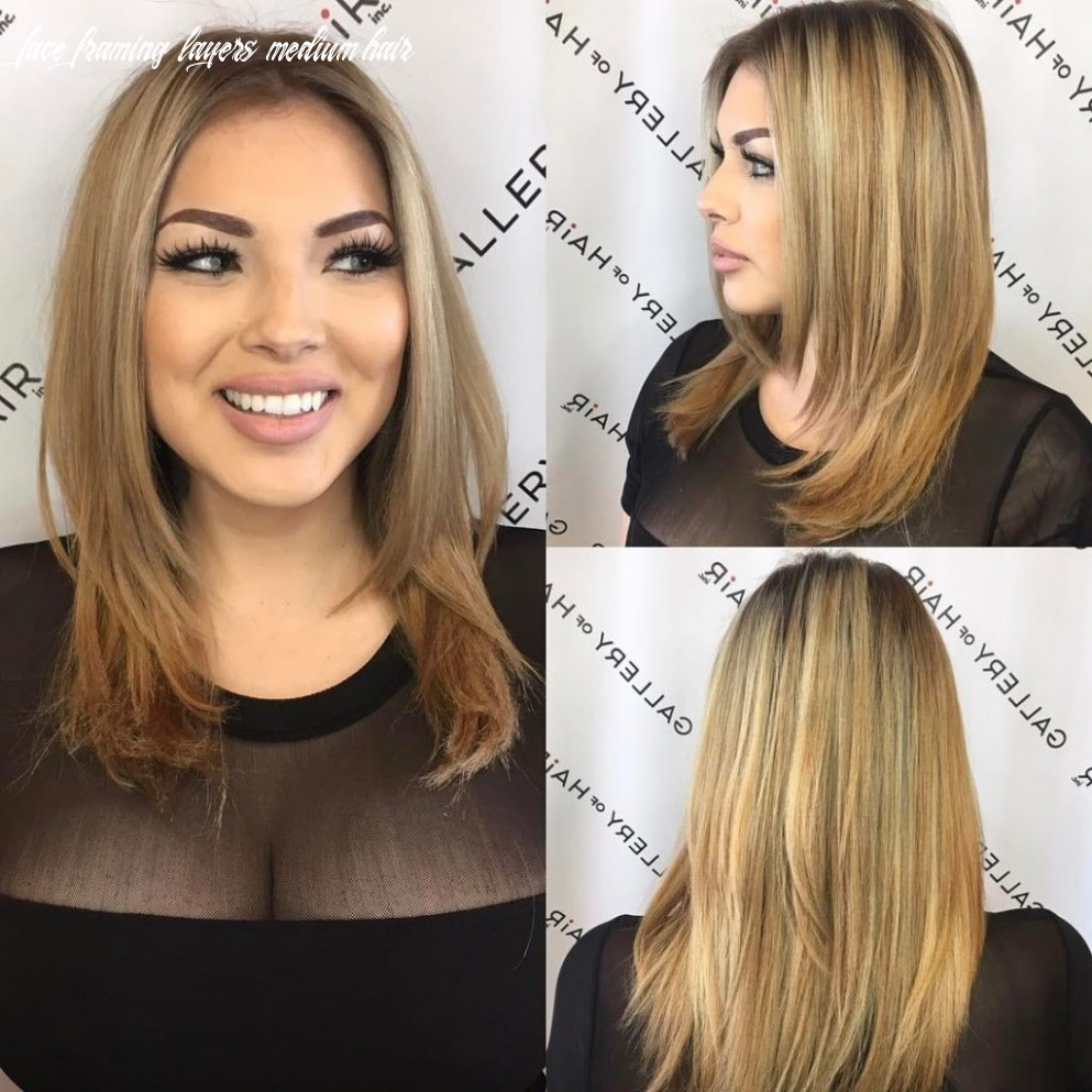 Women's Razor Cut Layered Blowout with Face Framing Layers and ...