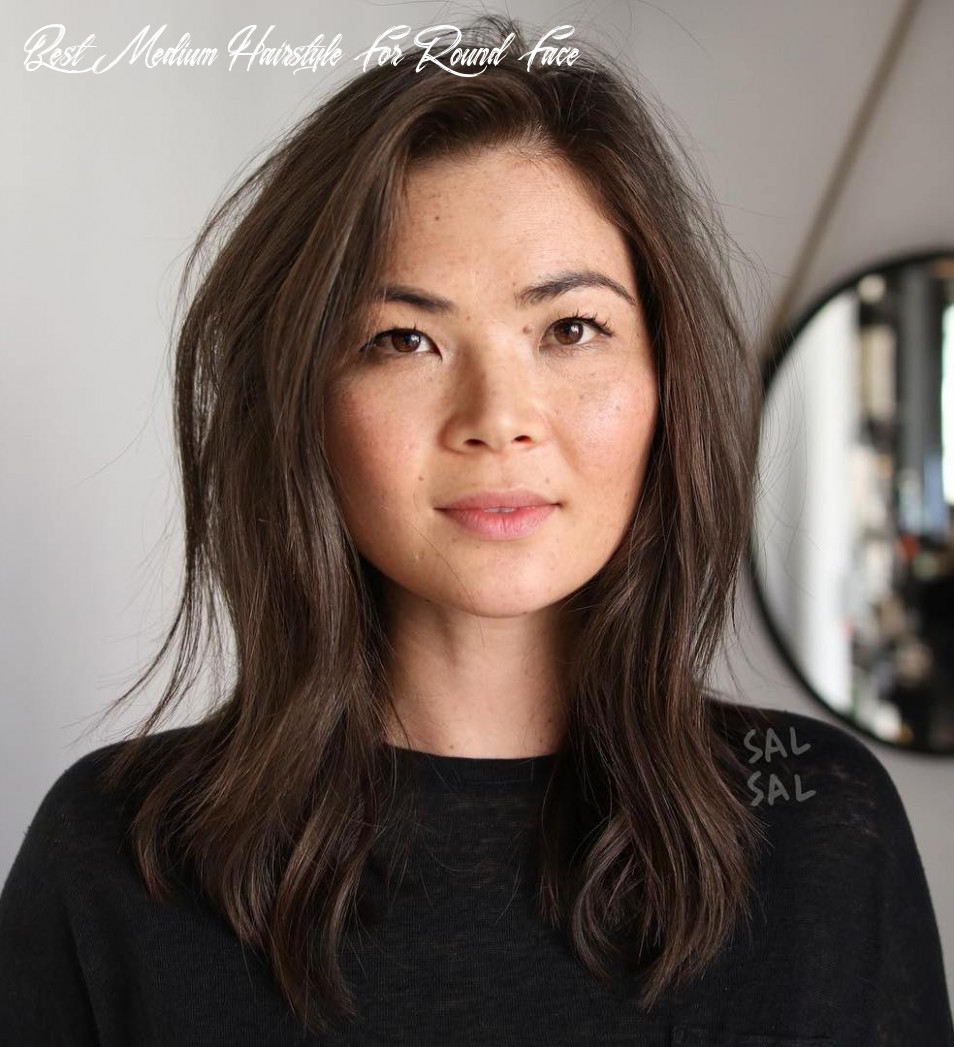 10 amazing haircuts for round faces hair adviser best medium hairstyle for round face
